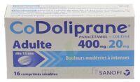 Codoliprane Adultes 400 Mg/20 Mg, Comprimé Sécable à Nice