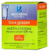 Acetylcysteine Biogaran Conseil 200 Mg Pdr Sol Buv En Sachet B/20 à Nice