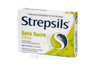 Strepsils Citron Sans Sucre, Pastille édulcorée à L'isomalt, Au Maltitol Et à La Saccharine Sodique à Nice