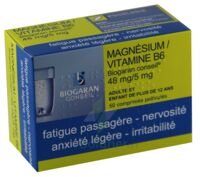 Magnesium/vitamine B6 Biogaran Conseil 48 Mg/5 Mg, Comprimé Pelliculé à Nice