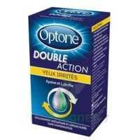 Optone Double Action Solution Oculaire Yeux Irrités Fl/10ml à Nice