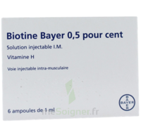 Biotine Bayer 0,5 Pour Cent, Solution Injectable I.m. à Nice