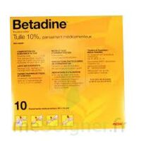 Betadine Tulle 10 % Pans Méd 10x10cm 10sach/1 à Nice