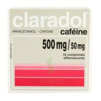 Claradol Cafeine 500 Mg/50 Mg, Comprimé Effervescent à Nice