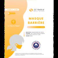 Masque Barrière Non Médical Enfant (11/16 Ans) Blancs B/6 à Nice